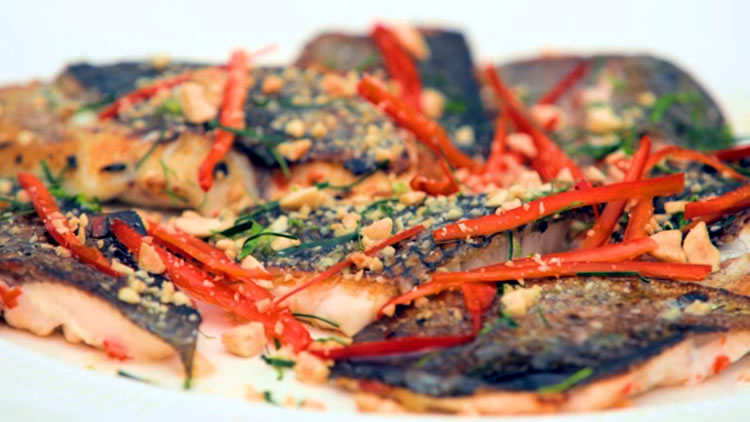 Lemongrass Fish with Asian Spi